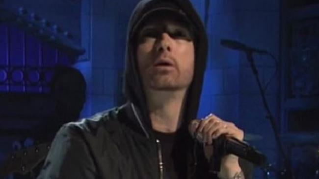 Some fans weren't impressed by Eminem's performance on Saturday Night Live. Picture: NBC