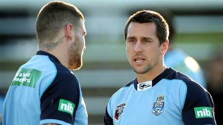 Mitchell Pearce could join NSW teammate Josh Dugan at Cronulla.