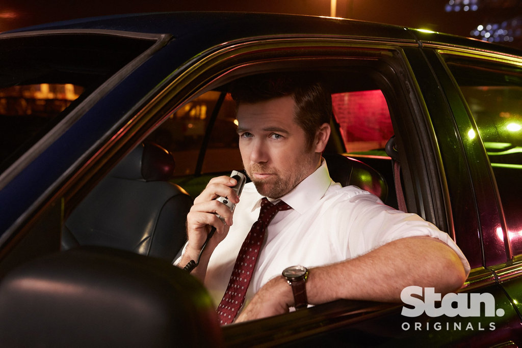Patrick Brammall as Detective Nick Cullen in a scene from the TV series No Activity.