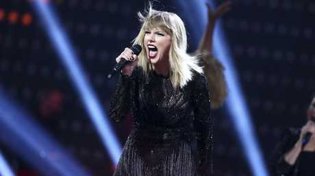 In this Feb. 4, 2017 file photo, Taylor Swift performs at the DIRECTV NOW Super Saturday Night Concert in Houston, Texas.