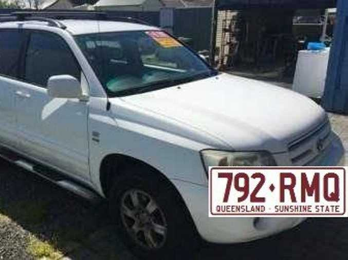 APPEAL: The Toyota Kluger with Qld registration 792RMQ, similar to this one pictured.