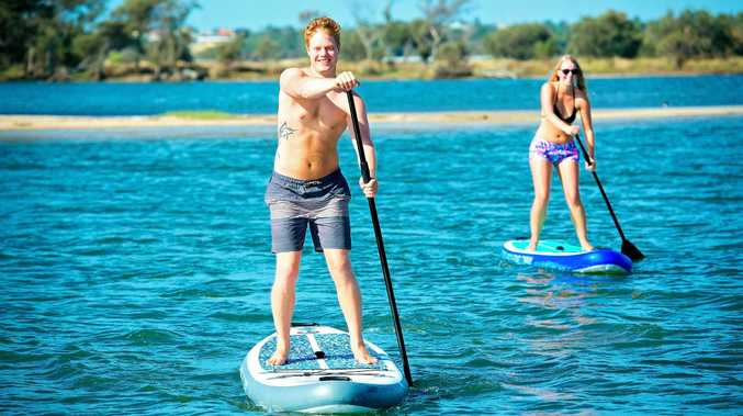 FILE PIC: The Stand-Up Paddle Board Company are in Goondiwindi and they're inviting water lovers to test drive their inflatable stand-up paddle boards on the lake at the botanical gardens.