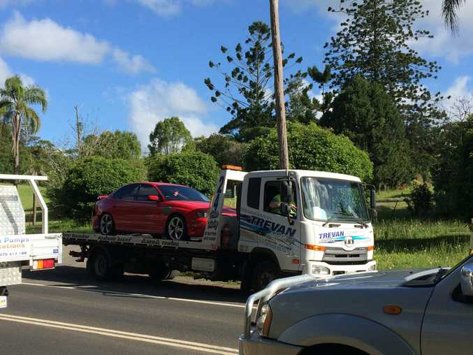 It's believed up to six cars were involved in a crash on the Bruxner Highway and Cowlong Road intersection.