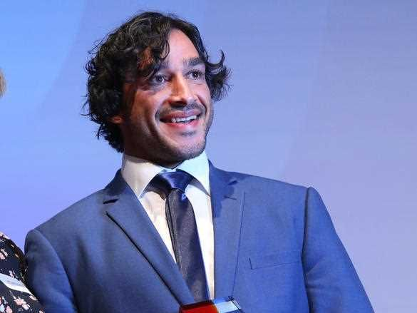 Johnathan Thurston is named Queensland Australian of the Year at the Queensland Australian of the Year awards night at The Old Museum in Brisbane, Wednesday, November 8, 2017.