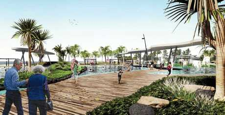 Boardwalks, water parks and a skatepark is part of the vision for the Mackay Strand.