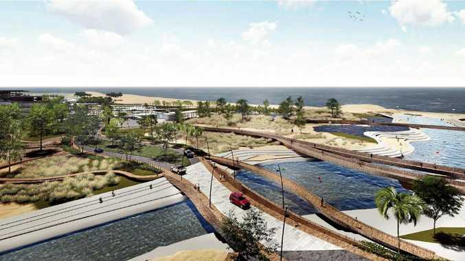 TRANSFORMATION: An artist's impression of what could be done to enhance Binnington Esplanade.