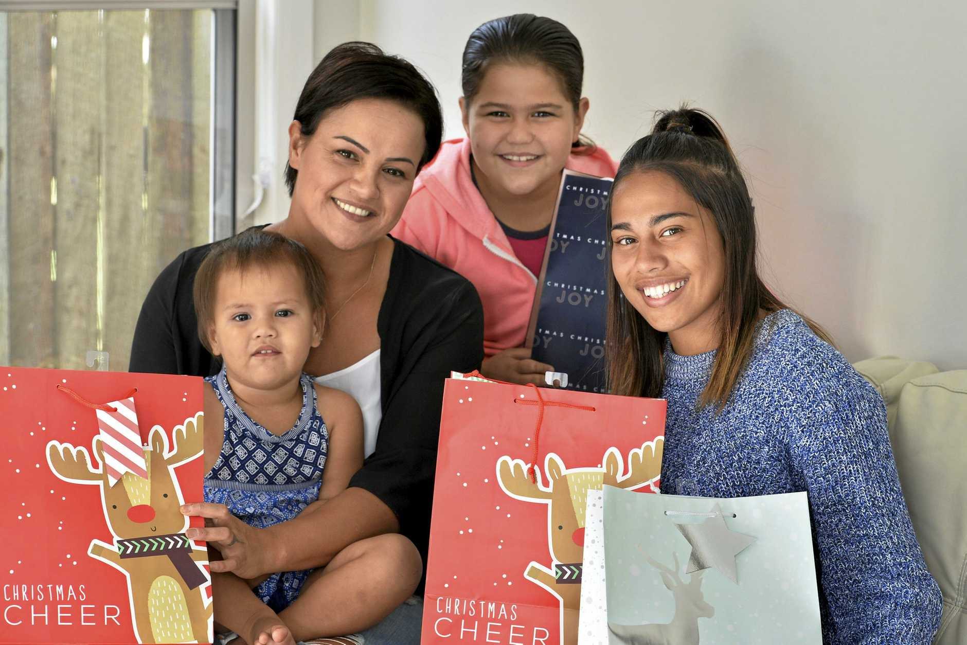 CHRISTMAS KINDNESS: Carol-Lee Repia and her daughters (from left) Mikaera, Mila and Mercedez Repia will spread cheer with the appeal to help seniors.