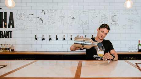 Maleny's Brouhaha Brewery founder Matt Jancauskas doing his thing.