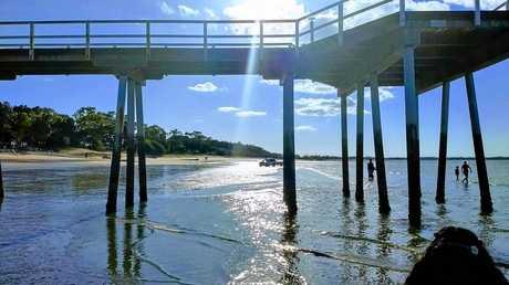 SUNSHINE: The gorgeous pier.