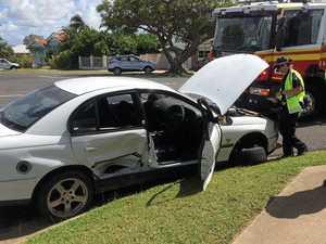 No plates on car in morning crash
