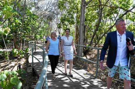 PROMISE: Queensland premier Annastacia Palaszczuk at Mon Repos.
