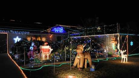 Light Up The City - best neighbourhood winner. 14 Lakeridge Drive, Dundowran.