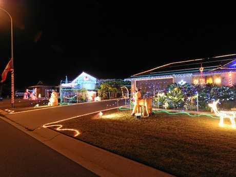 Light Up The City - best neighbourhood winner - 14 Lakeridge Drive, Dundowran.