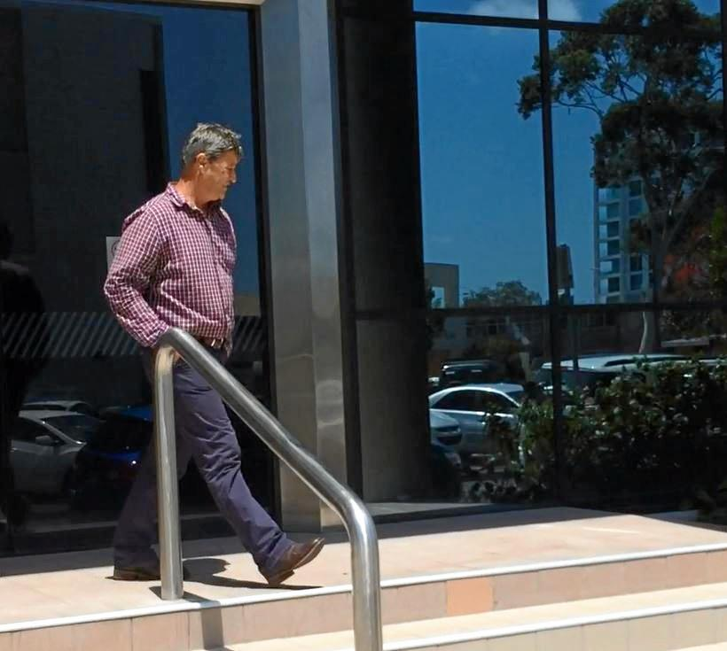 Andrew Noel Hensleigh Norris, 52, leaving Maroochydore courthouse after the marijuana trafficking conviction last year.