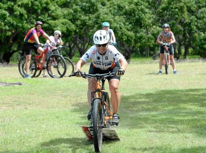 HIGH PRAISE: Accomplished mountain bike rider Kristin Edwards, who took part in the women's skills course at the weekend, cannot speak highly enough of the trails in Rockhampton.