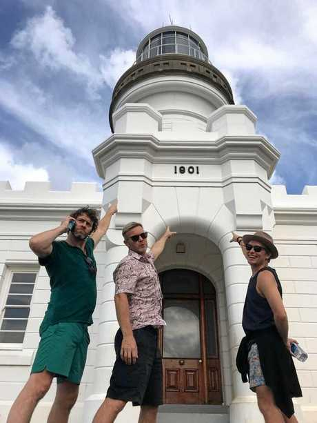 DAY OFF: English band Take That visited Byron Bay over the weekend at the end of their Australian tour.