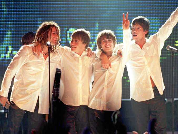 BACK IN THE DAY: British pop band Take That salute the audience, after performing live at the British music industry's Brit Awards 1996. It was reportedly the last public performance for the band.