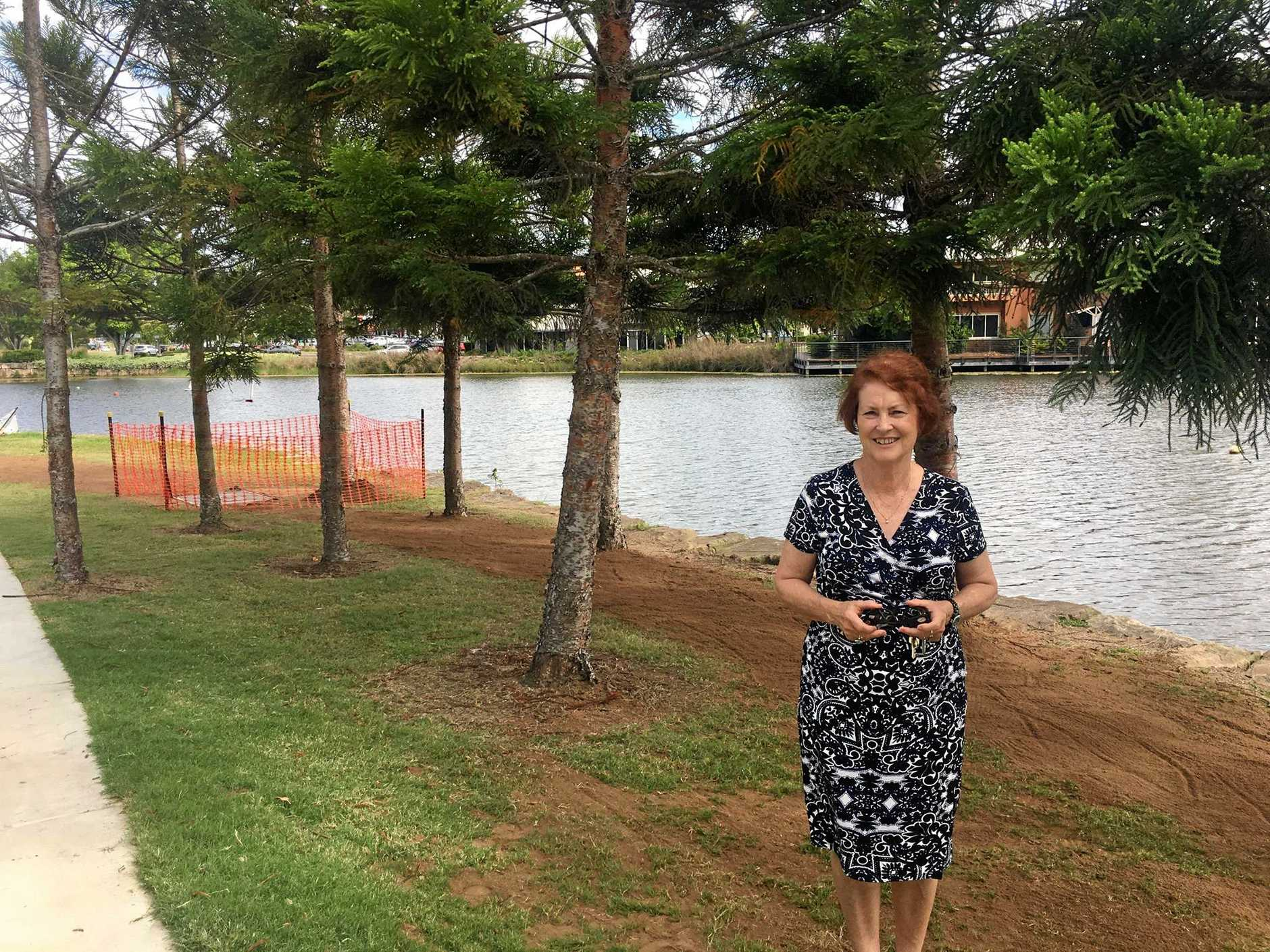 Councillor Sheila Ireland is calling for community feedback regarding a proposed storage container at Regatta Lake, Springfield Lakes.