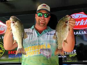 REELING IN A WINNER: Toowoomba's Cody Haynes celebrates winning the Tackle Tactics Wilson River Rumble which serves as the first round of the Berkley B.A.S.S. Australia Nation Series.