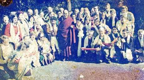 Peter Leney with the Dalai Lama.