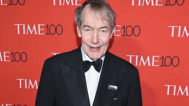Charlie Rose attends the 2017 Time 100 Gala.