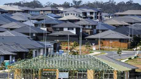 A new housing estate is seen at Oran Park in Sydney. Picture: Brendan Esposito/AAP