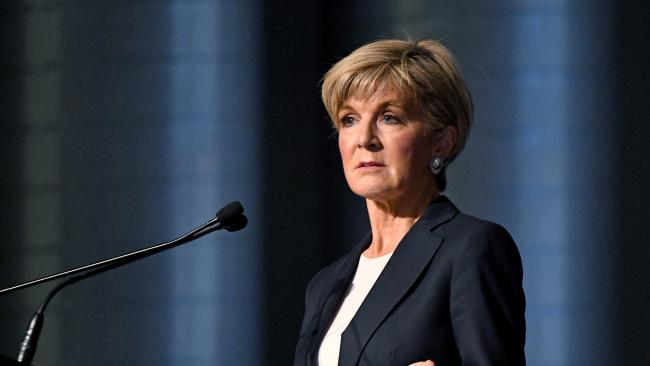 Julie Bishop has addressed reports an unnamed Coalition MP is threatening to quit next month in a move which could cost Malcolm Turnbull government. Picture: AAP