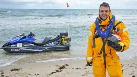 Earlier this year, Kelly rode a jetski across Bass Strait and back to raise money for the MS Society.