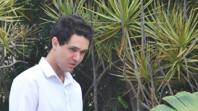 Lachlan James Afflick leaves the Townsville Magistrates Court