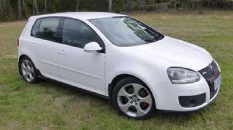 Robert Tran's white VW Golf GTI was driven from the scene shortly after his murder and abandoned five days later in a Merrylands carpark. Source: NSW Police