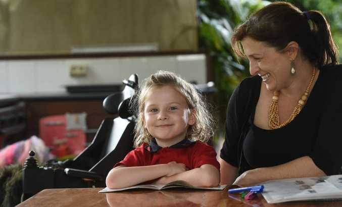 Violet Rickard, 6, pictured with her mother Anna Rickard, is hoping for access to medication that could help treat the degenerative disease SMA she has been diagnosed with.