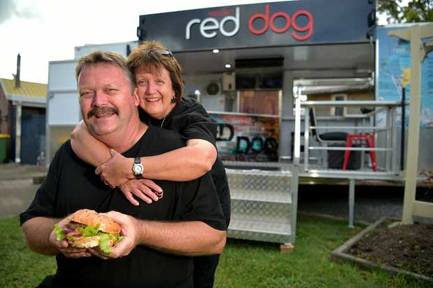 Jeff and Kerriann Bowman have opened up a mobile burger bar 'Red Dog'. It was their daughter's business plan but she passed away.
