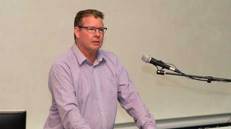 Barry O'Rourke (ALP) at the candidates forum at CQ University.