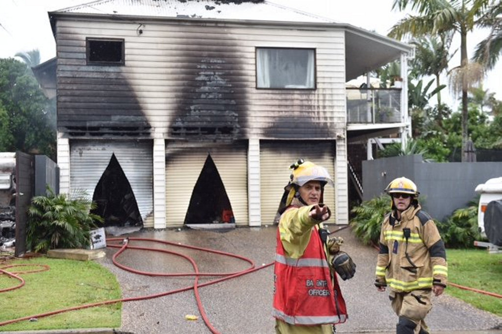 Fire tore though a house on Wildflower St, Sunshine Beach.