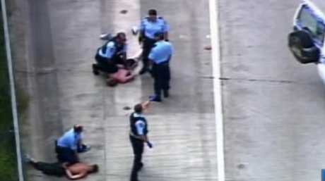 Police arrest two men at Tugun after a dramatic chase.