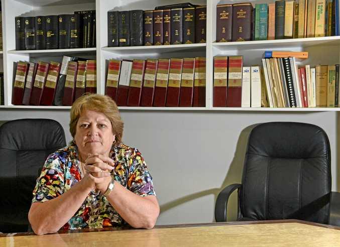 AT WORK: Anne Egan at her Murwillumbah Office.