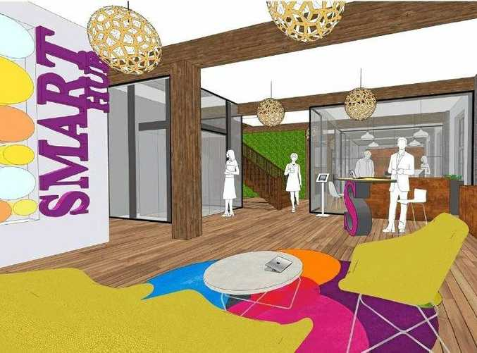 Artist impression of what was proposed for inside the Smart Hub.