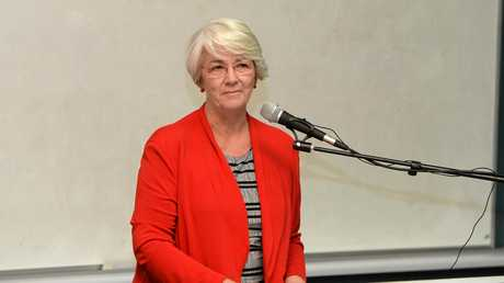 Margaret Strelow (Independent) at the candidates forum at CQ University.