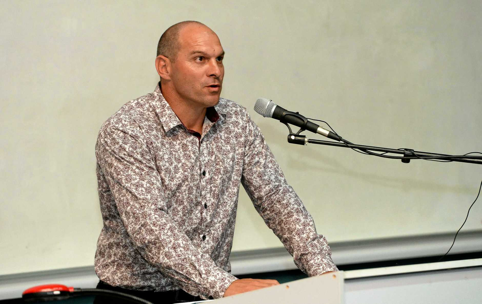 Wade Rothery (One Nation)  at the candidates forum at CQ University.