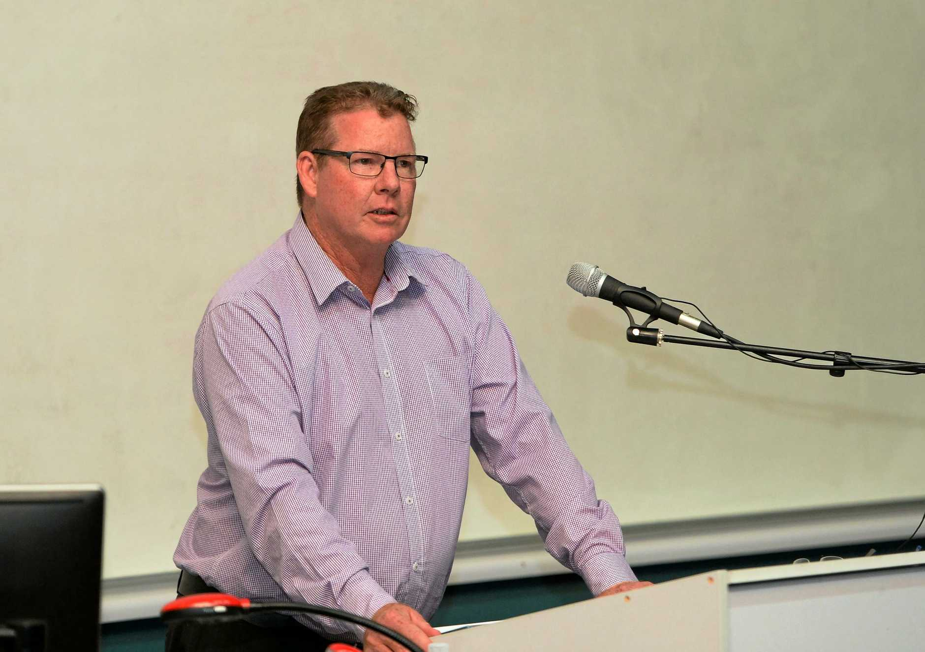Barry O'Rourke (ALP) at the candidates forum at CQUniversity.