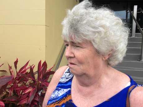 Kathleen McAdam, mum of Lardeen Glennon and grandmother of Matthew , outside Mackay courthouse on Tuesday, November 21, 2017.
