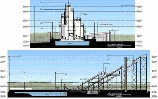 Plans for a ski jump facility in Lismore.