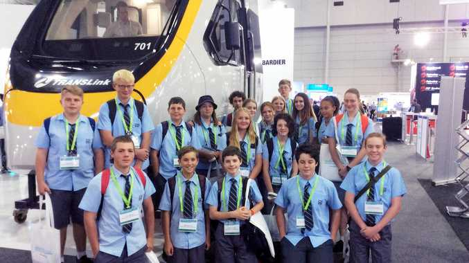 ALL ABOARD: Maryborough State High School students attended the AusRail Plus 2017 Conference and Exhibition this week.