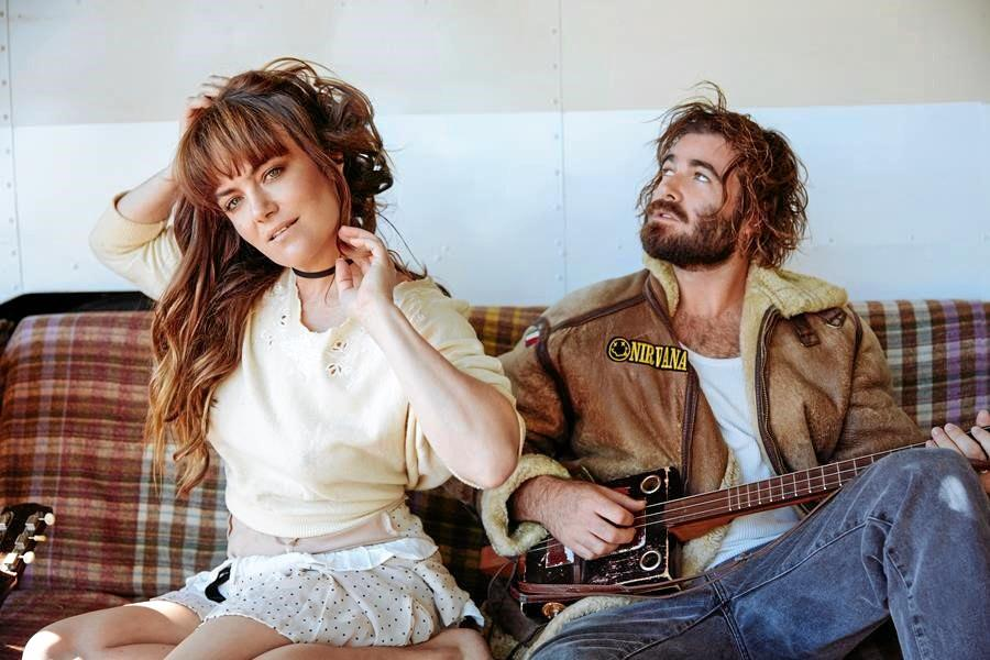 SIBLINGS: Angus and Julia Stone.