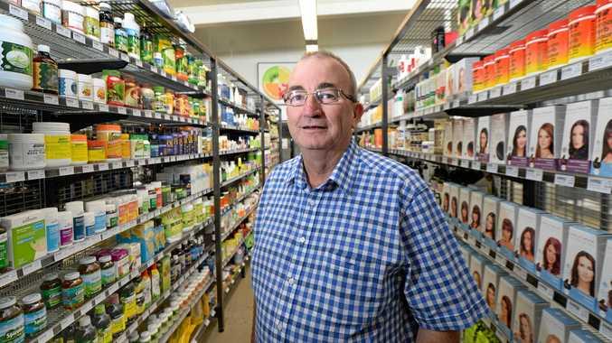 Ian Kinsey in his Go Vita health food store on Fitzroy Street, Rockhampton.   Photo: Chris Ison / The Morning Bulletin