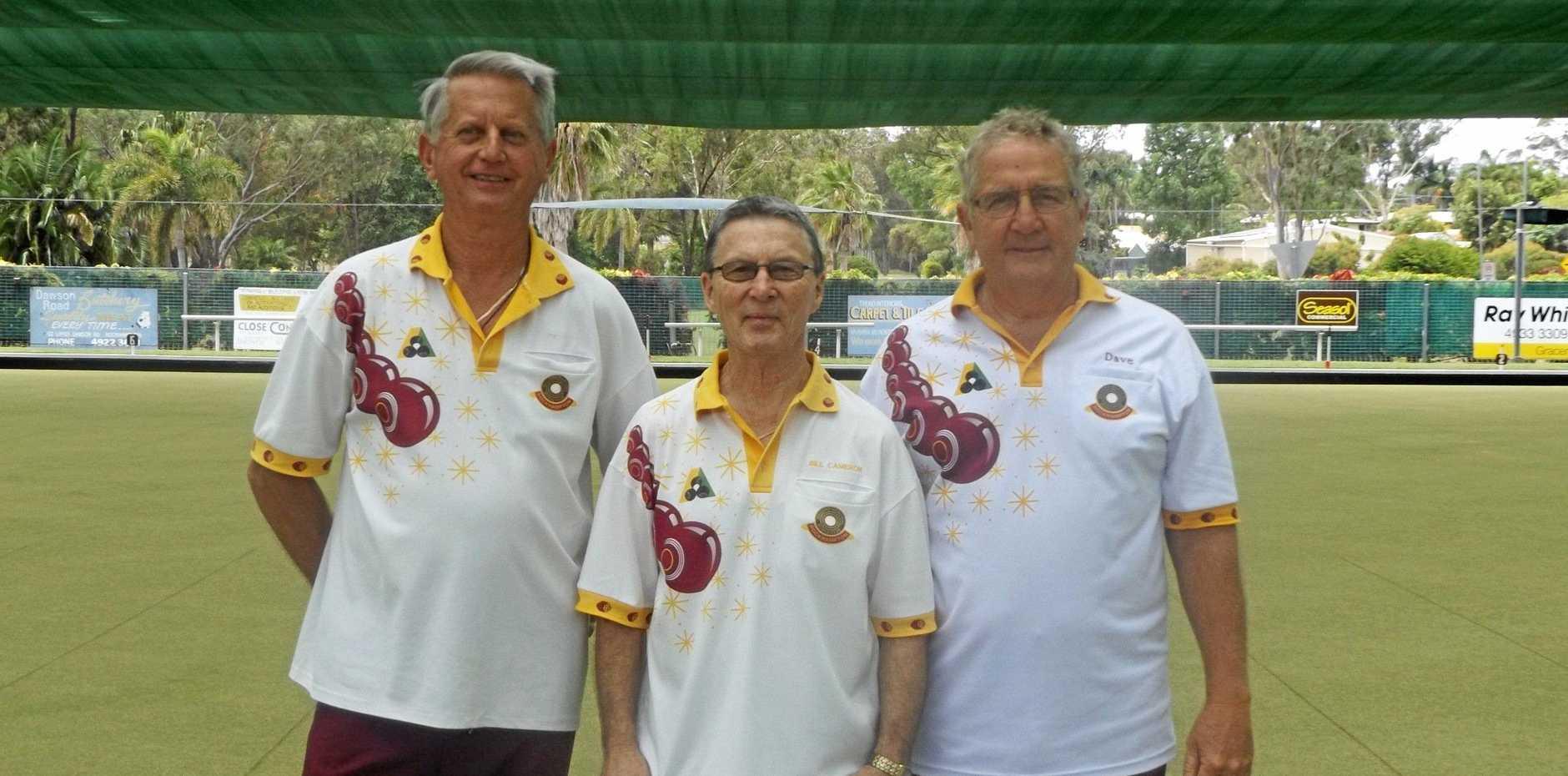 The winning team of John Lenon, Bill Cameron and Dave Millar.