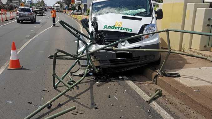 CRASH: Single-vehicle accident on the Charles Drew bridge in Dalby.