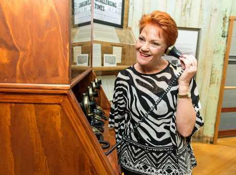 One Nation leader Senator Pauline Hanson at the Bundaberg Rum Distillery in Bundaberg on Wednesday, November 22, 2017.
