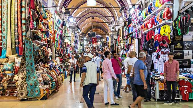 The Grand Bazaar is one of the largest and oldest covered markets in the world in Istanbul, Turkey.