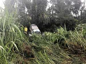 Van ploughs off Bruce Highway north of Mackay